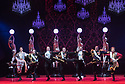 "Opera North presents ""THE MERRY WIDOW"", at Leeds Grand. Music is by Franz Lehar, original book and lyrics by Victor Leon and Leo Stein, translated and adapted by Kit Hesketh Harvey with Giles Havergal for Opera North. The production is directed by Giles Havergal, with design by Leslie Travers and lighting design by Oliver Fenwick. The cast is: Máire Flavin (Hanna Glawari), Amy Freston (Valencienne), Nicholas Watts (Camille de Rosillon), Quirijn de Lang (Danilo), Geoffrey Dalton (Baron Zeta), Alex Otterburn (Cascada), Alex Banfield (St. Brioche). Picture shows: Quirijn de Lang (Danilo), Nicholas Butterfield (Bogdanovitch), Alex Otterburn (Cascada), Dean Robinson (Kromov), Alex Banfield (St Brioche), Jeremy Peaker ( Pritschitch), Geoffrey Dolton (Baron Zeta)"