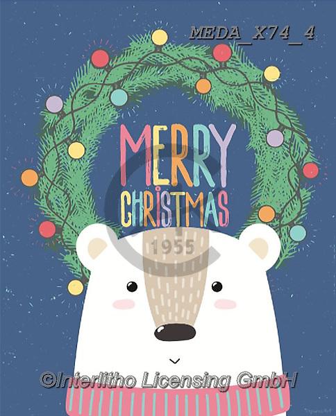 Dreams, CHRISTMAS ANIMALS, WEIHNACHTEN TIERE, NAVIDAD ANIMALES, paintings+++++,MEDAX74/4,#XA#