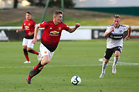 Ethan Hamilton of Manchester United U23's in action during Fulham Under-23 vs Manchester United Under-23, Premier League 2 Football at Motspur Park on 10th August 2018