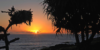 Sunrise in Hana, Maui in the Hawaiian Islands