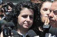 SANTO ANDRE, SP, 15 DE FEVEREIRO 2012 - JULGAMENTO LINDEMBERG ALVES - CASO ELOA - Advogada de Lindemberg Ana Lucia Assad, de 25 anos, chega ao Fórum de Santo André, no Grande ABC paulista, no terceiro e provável último dia do júri do caso Eloá. Ele é acusado pela morte da ex- namorada Eloá Cristina Pimentel, de 15 anos, em um conjunto habitacional de Santo André, em outubro de 2008. (FOTO: ADRIANO LIMA - BRAZIL PHOTO PRESS).