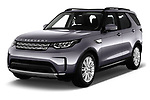 2018 Land Rover Discovery HSE 5 Door SUV angular front stock photos of front three quarter view