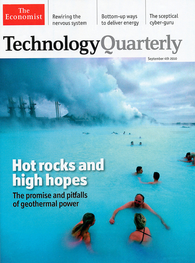 "Iceland's Blue Lagoon in ""The Economist"""