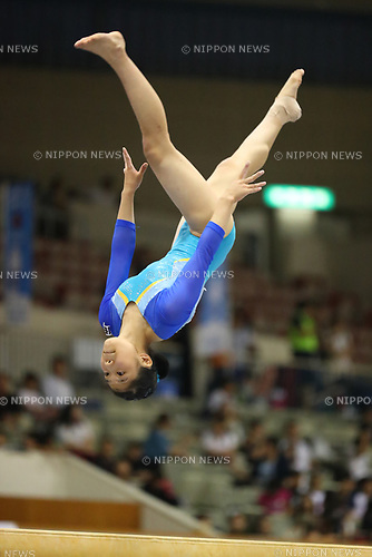Ayaka Sakaguchi (), <br /> AUGUST 21, 2017 - Artistic Gymnastics : <br /> 48th All Japan Junior High School Championships <br /> Women's Individual All-Around <br /> Balance Beam <br /> at Kitakyushu City General Gymnasium, Fukuoka, Japan. <br /> (Photo by YUTAKA/AFLO)