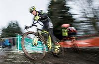 Picture by Allan McKenzie/SWpix.com - 10/12/17 - Cycling - HSBC UK National Cyclo-Cross Championships - Round 5, Peel Park - Bradford, England - Jeremy Durrin.