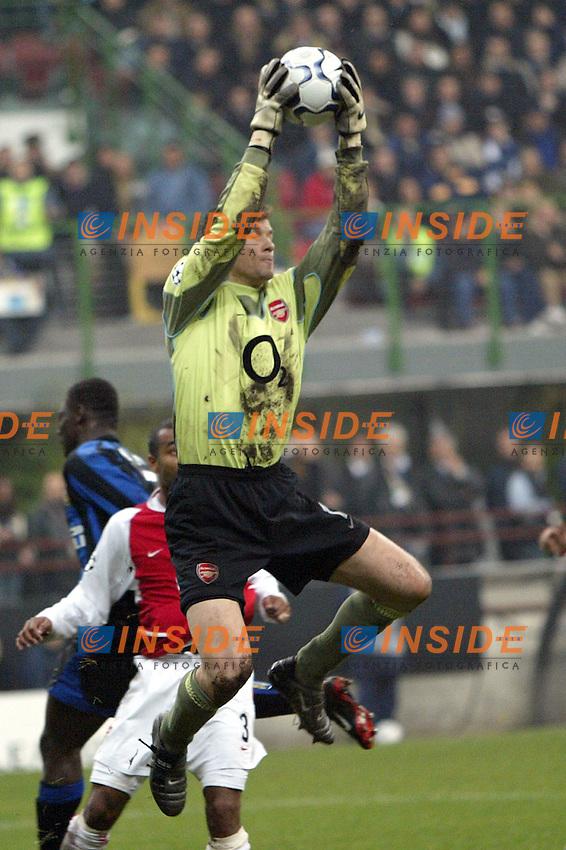 MILANO 25/11/2003 <br /> Champions League Inter Arsenal 1-5<br /> Jens Lehmann (Arsenal)<br /> Photo Andrea Staccioli Insidefoto