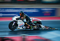 Jul 19, 2019; Morrison, CO, USA; NHRA pro stock motorcycle rider Eiji Kawakami during qualifying for the Mile High Nationals at Bandimere Speedway. Mandatory Credit: Mark J. Rebilas-USA TODAY Sports