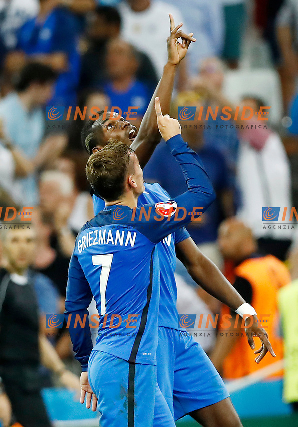Paul Pogba and Antoine Griezmann (France) goal celebrationg. esultanza gol<br /> Marseille 07-07-2016 Stade Velodrome Football Euro2016 Germany - France / Germania - Francia Semi-finals / Semifinali <br /> Foto Matteo Ciambelli / Insidefoto