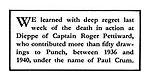 Death Notice: Roger Pettiward (cartoonist Paul Crum).