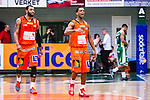 S&ouml;dert&auml;lje 2014-01-03 Basket Basketligan S&ouml;dert&auml;lje Kings - Bor&aring;s Basket :  <br /> Bor&aring;s James &quot;JJ&quot; Miller  och Bor&aring;s Christopher Chris McKnight jublar efter matchen <br /> (Foto: Kenta J&ouml;nsson) Nyckelord:  jubel gl&auml;dje lycka glad happy