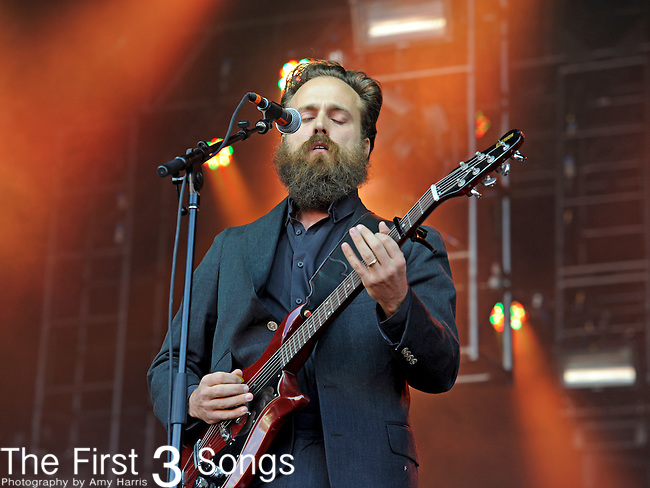 Sam Beam of Iron and Wine performs during Day 1 of the Orlando Calling music festival at Citrus Bowl Park in Orlando, Florida on November 12, 2011.