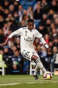 3rd February 2019, Santiago Bernabeu, Madrid, Spain; La Liga football, Real Madrid versus Alaves; Vinicius Junior (Real Madrid)  controls the ball