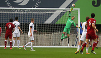 Pictured: Gregor Zabret of Swansea saves the ball. Friday 11 August 2017<br /> Re: Premier League 2, Division 1, Swansea City U23 v Liverpool U23 at the Landore Training Ground, Swansea, UK