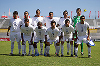 Honduras lines up during the group stage of the CONCACAF Men's Under 17 Championship at Catherine Hall Stadium in Montego Bay, Jamaica. Canada tied Honduras, 0-0.