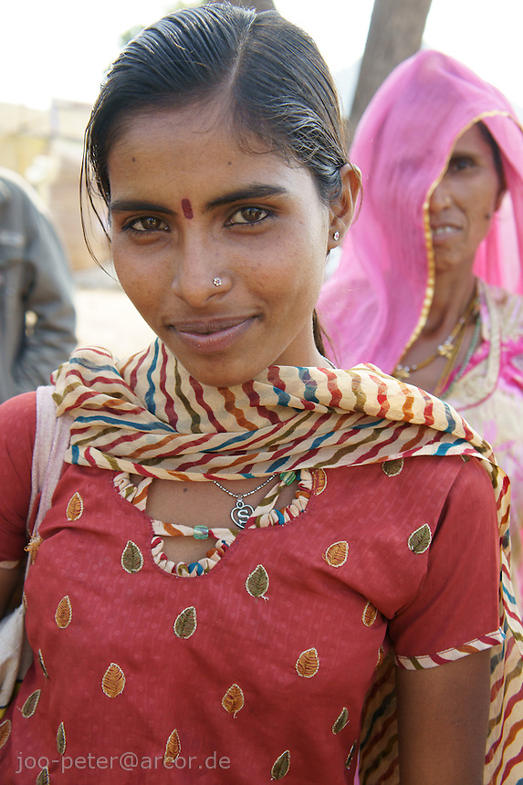 woman visiting camel fair in Pushkar, Rajastan, India