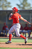 Los Angeles Angels of Anaheim Jared Walsh (31) during an Instructional League game against the San Francisco Giants on October 13, 2016 at the Tempe Diablo Stadium Complex in Tempe, Arizona.  (Mike Janes/Four Seam Images)