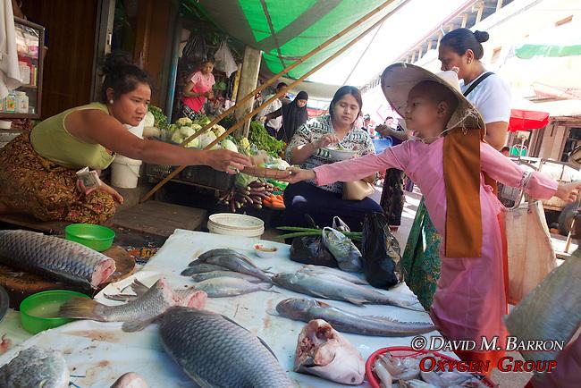 Young Monks Receiving Money, Gyee Zai Market