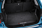 Rear cargo hatchback area of a 2011 Mitsubishi Outlander Sport SE