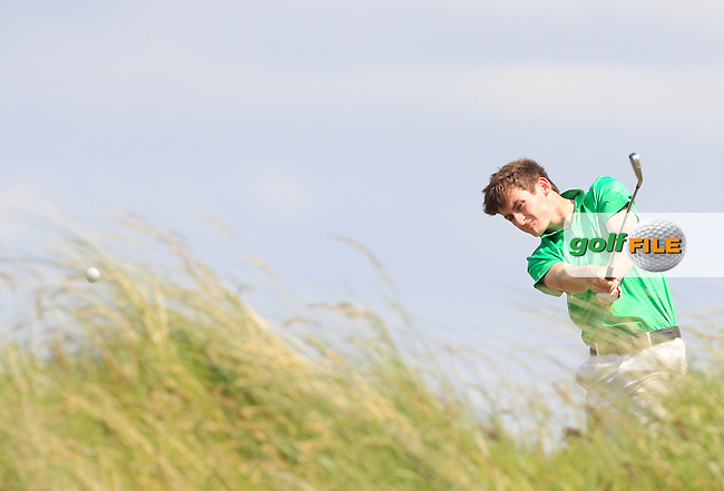Patrick Brennan (Belvoir Park) on the 8th tee during Round 1 of the Ulster Boys Championship at Castlerock Golf Club on Tuesday 30th June 2015.<br /> Picture:  Golffile | Thos Caffrey