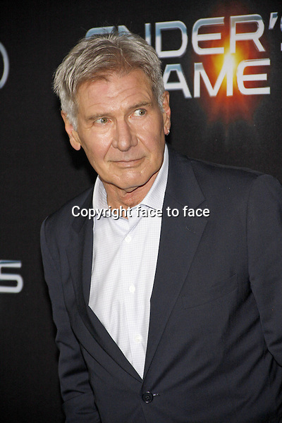 Harrison Ford at the Los Angeles Premiere of &quot;Ender's Game&quot; held at the TCL Chinese Theater in Hollywood on October 28, 2013 in Los Angeles, California.<br />