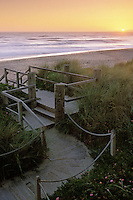 California, Santa Cruz County, Pajaro Dunes, Sunset and boardwalk
