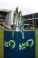 20130317 Copyright onEdition 2013©.Free for editorial use image, please credit: onEdition..The LV= Cup Trophy before the LV= Cup Final between Harlequins and Sale Sharks at Sixways Stadium on Sunday 17th March 2013 (Photo by Rob Munro)..For press contacts contact: Sam Feasey at brandRapport on M: +44 (0)7717 757114 E: SFeasey@brand-rapport.com..If you require a higher resolution image or you have any other onEdition photographic enquiries, please contact onEdition on 0845 900 2 900 or email info@onEdition.com.This image is copyright onEdition 2013©..This image has been supplied by onEdition and must be credited onEdition. The author is asserting his full Moral rights in relation to the publication of this image. Rights for onward transmission of any image or file is not granted or implied. Changing or deleting Copyright information is illegal as specified in the Copyright, Design and Patents Act 1988. If you are in any way unsure of your right to publish this image please contact onEdition on 0845 900 2 900 or email info@onEdition.com