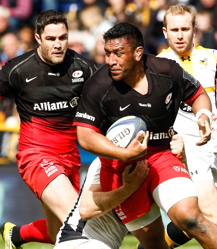 Saracens' Mako Vunipola<br /> <br /> Photographer Simon King/CameraSport<br /> <br /> Rugby Union - European Rugby Champions Cup Semi Final - Saracens v Wasps - Saturday 23rd April 2016 - Madejski Stadium - Reading<br /> <br /> &copy; CameraSport - 43 Linden Ave. Countesthorpe. Leicester. England. LE8 5PG - Tel: +44 (0) 116 277 4147 - admin@camerasport.com - www.camerasport.com