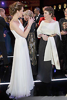 10 February 2-19 - Kate Duchess of Cambridge meets Olivia Colman at the EE Bafta British Academy Film Awards 2019 at The Royal Albert Hall in London. Photo Credit: ALPR/AdMedia