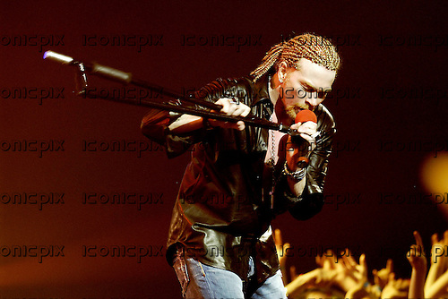 Guns n' Roses - Axl Rose - performing live at the Hammerstein Ballroom in New York USA - 15 May 2006.  Photo credit: George Chin/IconicPix