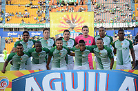 MEDELLIN-COLOMBIA, 9-AGOSTO-2017. Formación de Atlético Nacional,Atlético Nacional y La Equidad durante partido por la fecha 6 de la Liga Aguila II 2017 jugado en el estadio Atanasio Girardot de la ciudad de Medellín. / Team of Atletico Nacional. Atlético Nacional  and La Equidad during match for the date 6 of the Aguila League II 2017 played at Atanasio Girardot stadium in Medellin city. Photo:VizzoImage / León Monsalve / Stringer