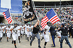 The Army in action before the Zaxby's Heart of Dallas Bowl game between the Army Black Knights and the North Texas Mean Green at the Cotton Bowl Stadium in Dallas, Texas.