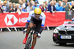 Jan Andrej Cully (SVK) in action during the Men Elite Individual Time Trial of the UCI World Championships 2019 running 54km from Northallerton to Harrogate, England. 25th September 2019.<br /> Picture: Eoin Clarke | Cyclefile<br /> <br /> All photos usage must carry mandatory copyright credit (© Cyclefile | Eoin Clarke)