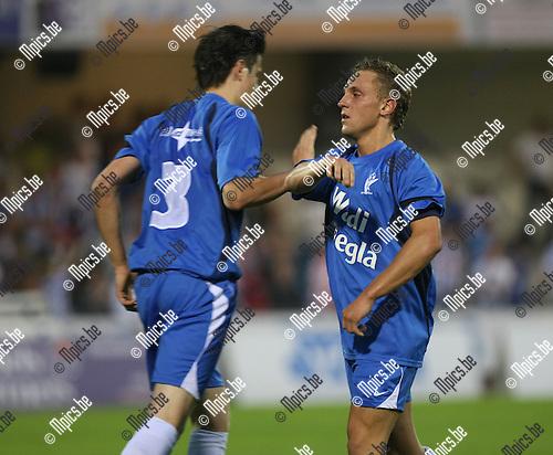 2008-08-30 / Voetbal / KV Turnhout - RC Mechelen / Kevin Janssens scoorde de 1-0..Foto: Maarten Straetemans (SMB)