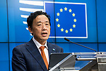 BRUSSELS - BELGIUM - 16 December 2019 --  Agriculture and Fisheries Council meeting - Presidency of Finland. -- Press conference with FAO Director-General Qu Dongyu. -- PHOTO: Juha ROININEN / EUP-IMAGES