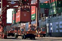 A cargo container shipping terminal. Canada.