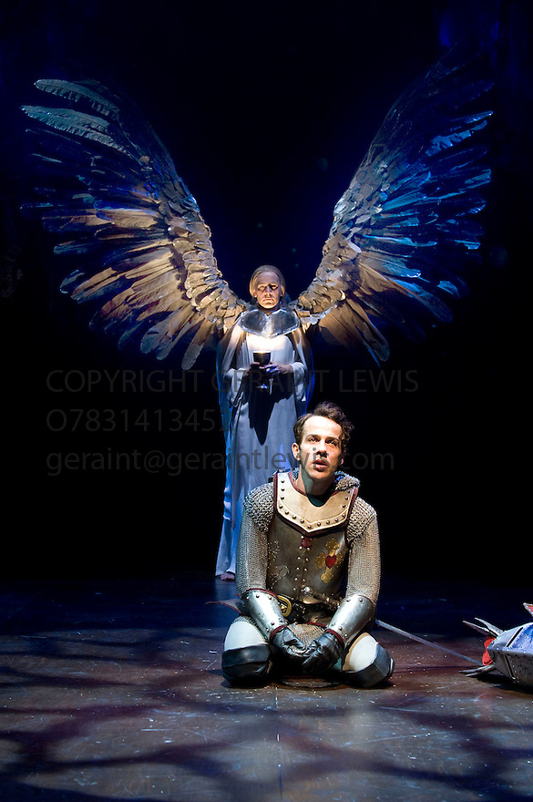Morte D'Arthur by Sir Thomas Malory,a new adaption for The Royal Shakespeare Company by Katrina Lindsay directed by Gregory Doran.With Jonjo O'Meill as Launcelot,James Howard as The Grail Angel. Opens at The Courtyard Theatre,Stratford Upon Avon  on 17/6/10 Credit Geraint Lewis