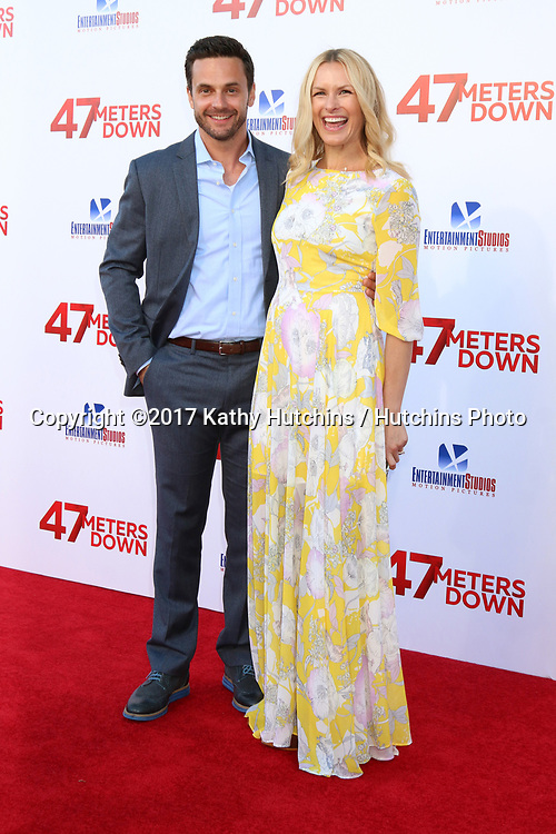 "LOS ANGELES - JUN 12:  Chris J Johnson, Amy Laughlin at the ""47 Meters Down"" Premiere at the Village Theater on June 12, 2017 in Westwood, CA"