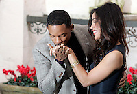 "L'attore statunitense Will Smith, sinistra, bacia la mano all'attrice Rosario Dawson durante un photocall per la presentazione del film ""Sette anime"" a Roma, 8 gennaio 2009..U.S. actor Will Smith, left, kiss the hand to actress Rosario Dawson pose during a photocall for the presentation of the movie ""Seven Pounds"" in Rome, 8 january 2009..UPDATE IMAGES PRESS/Riccardo De Luca"