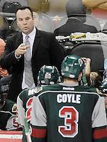 during the third period of an AHL hockey game, Sunday, Oct. 14, 2012, in San Antonio. San Antonio won 3-2. (Darren Abate/pressphotointl.com)