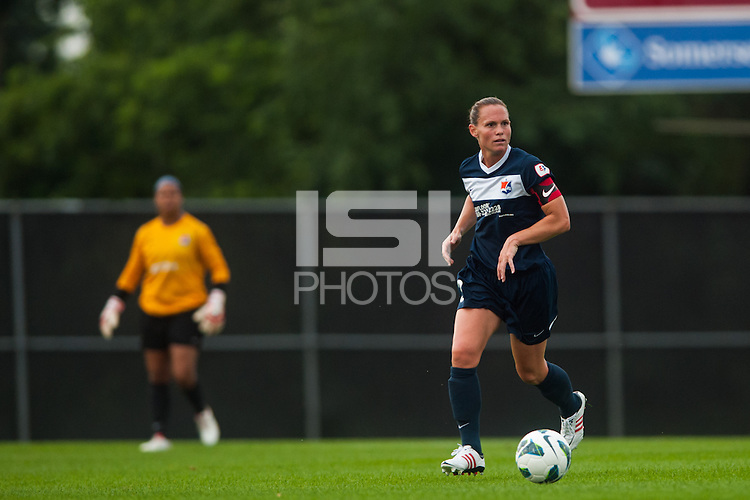 Sky Blue FC defender Christie Rampone (3). Sky Blue FC and the Boston Breakers played to a 0-0 tie during a National Women's Soccer League (NWSL) match at Yurcak Field in Piscataway, NJ, on July 13, 2013.