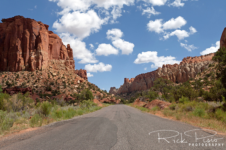 Burr trail road through Long Canyon in the Grand Staircase Escalante National Monument.