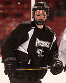 Garrett Gamez (PC - 13) - The Providence College Friars practiced on the rink at Fenway Park on Friday, January 6, 2017.