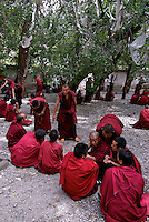 Founded in 1419, Sera Monastery is one of the three major monasteries of Gelupga, or yellow hat sect in central Tibet..One of the most interesting time to visit the monastery is in the afternoon when monks, after finishing their morning scripture classes, can be seen debating in the courtyard. You can see the passion and intensity through their expression and posture. .