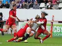 Marlie Packer in action. WRWC England v Canada, World Cup Final at Stade Jean Bouin, Avenue du Général Sarrail, Paris, France, on 17th August 2014
