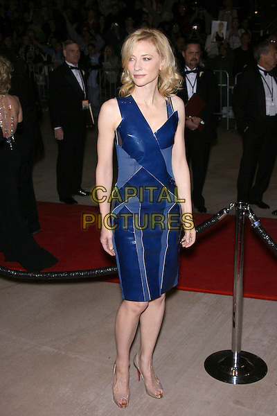 CATE BLANCHETT .18th Annual Palm Springs International Film Festival Hosts Star-Studded Awards Gala held at the Palm Springs Convention Center, Palm Springs, California, USA,.6 January 2007..full length blue dress leather patches beige nude Christian Louboutin platform shoes.CAP/ADM/ZL.©Zach Lipp/Admedia/Capital Pictures