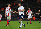 9th December 2017, Wembley Stadium, London England; EPL Premier League football, Tottenham Hotspur versus Stoke City; Harry Kane of Tottenham Hotspur celebrates after scoring his sides 4th in the 64th minute to make ti 4-0