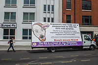 A counter protest to the 'Peoples Vote' anti Brexit demonstration organised by the DFLA and supported by UKIP and similar anti EU groups. Around 2,000 people attended. London23-6-18