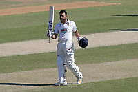 Ravi Bopara of Essex acknowledges the crowd after reaching his century during Essex CCC vs Somerset CCC, Specsavers County Championship Division 1 Cricket at The Cloudfm County Ground on 26th June 2018
