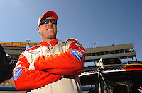 Apr 17, 2009; Avondale, AZ, USA; NASCAR Nationwide Series driver D.J. Kennington during qualifying prior to the Bashas Supermarkets 200 at Phoenix International Raceway. Mandatory Credit: Mark J. Rebilas-