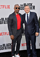 "LOS ANGELES, USA. June 04, 2019: Jamie Foxx & Ted Sarandos  at the premiere for ""The Black Godfather"" at Paramount Theatre.<br /> Picture: Paul Smith/Featureflash"